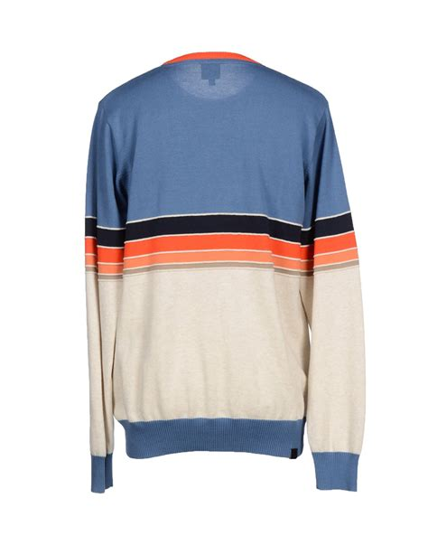 mens bench jumpers bench jumper in blue for men lyst