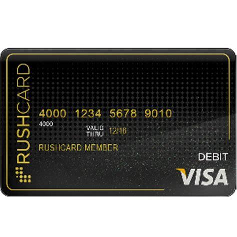 free rushcard prepaid visa plus free 40 bonus