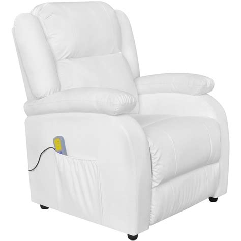 white leather recliner chairs electric massage recliner chair artificial leather white