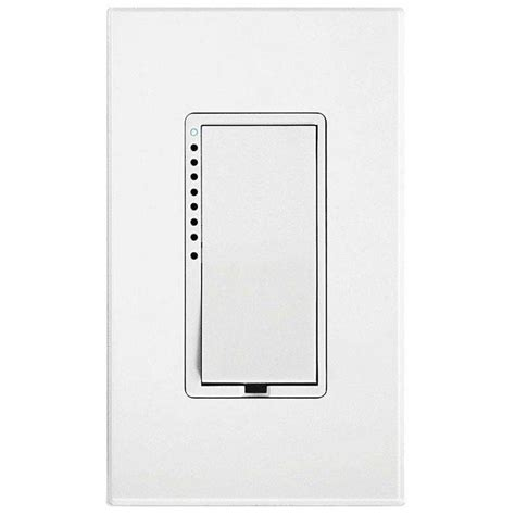 Dimmer Switch For Led Light Bulbs Insteon 600 Watt Multi Location Cfl Led Dimmer Switch White 2477d The Home Depot