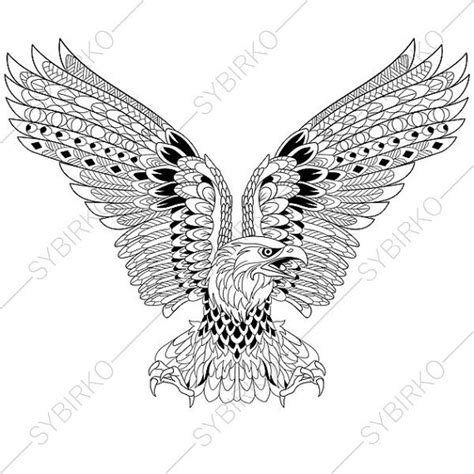 eagle mandala coloring pages eagle coloring page adult coloring book by