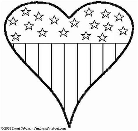 patriotic heart coloring page pinterest the world s catalog of ideas