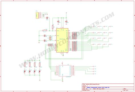 4x4x4 led cube schematic 3x3x3 led cube schematic