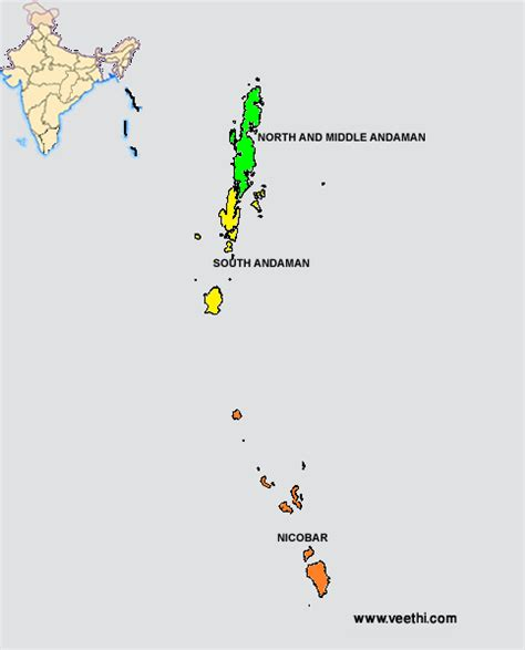 Andaman And Nicobar Outline Map by List Of Districts Of Andaman And Nicobar Islands
