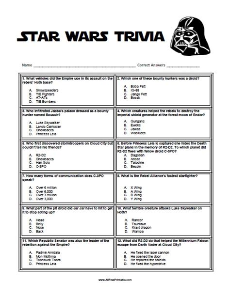 printable quiz cards star wars trivia free printable allfreeprintable com