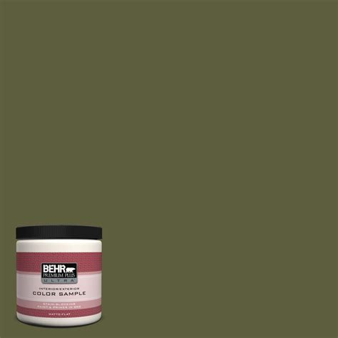 behr premium plus ultra 8 oz pwl 91 pale bamboo interior exterior paint sle pwl 91u the