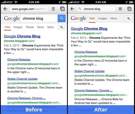 chrome version history chrome for ios with messages sharing and back button