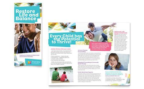 Adolescent Counseling Tri Fold Brochure Template Design