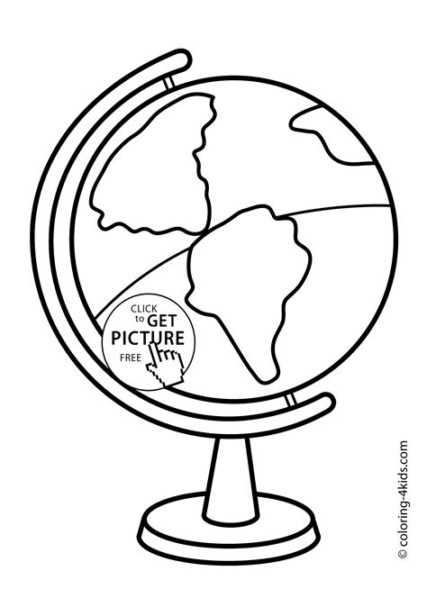 School Globe Coloring Page Classes Coloring Page For Kids Globe Coloring Pages