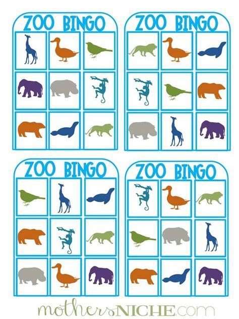 printable zoo animal bingo cards our day at the zoo printable