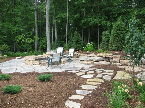 rustic landscaping ideas for a backyard backyard patio designs with fire pit google search