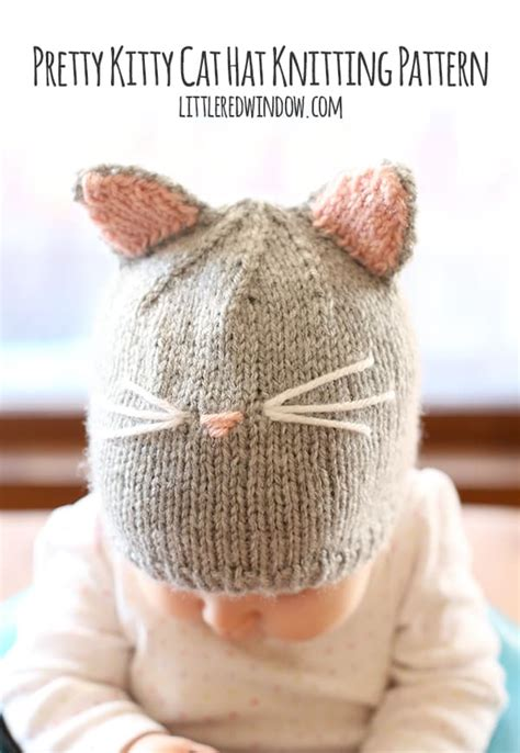 knit cat hat pretty cat hat knitting pattern window