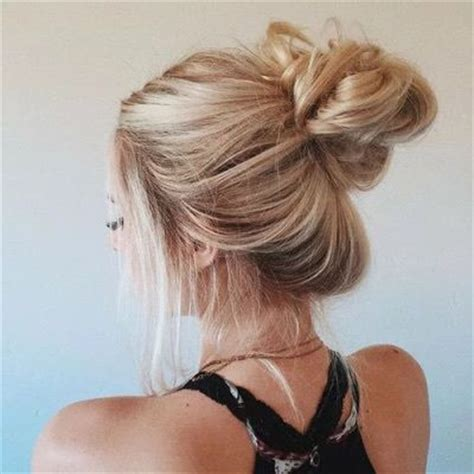 blonde messy bun pictures, photos, and images for facebook
