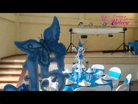 como decorar copas de xv años fiesta 15 a 241 os decoraci 243 n mariposas azules