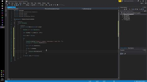 tutorial c visual studio 2017 creating a number guessing game in c with visual studio