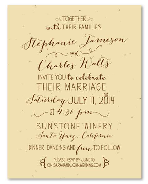 Handwritten Letter Wedding Invitation Unique Wedding Invitations On Seeded Paper By Foreverfiances Weddings Organic Handwritten