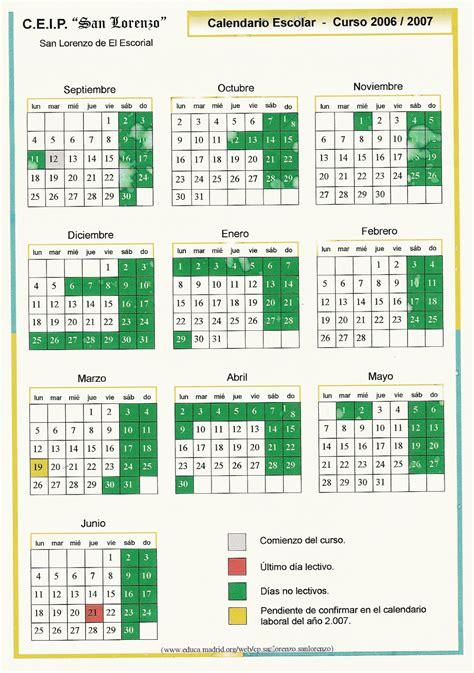 Calendario Escolar 2006 A Ceip San Lorenzo De El Escorial Calendario Escolar