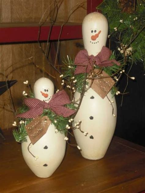 bowling pin craft projects diy snowman using bowling pins find projects to