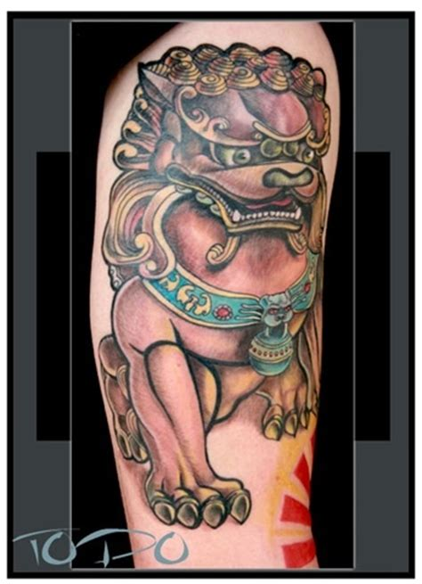chinese lion tattoo designs guardian
