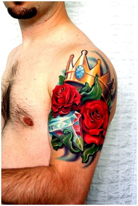 rose and crown tattoo designs 30 spectacular crown designs