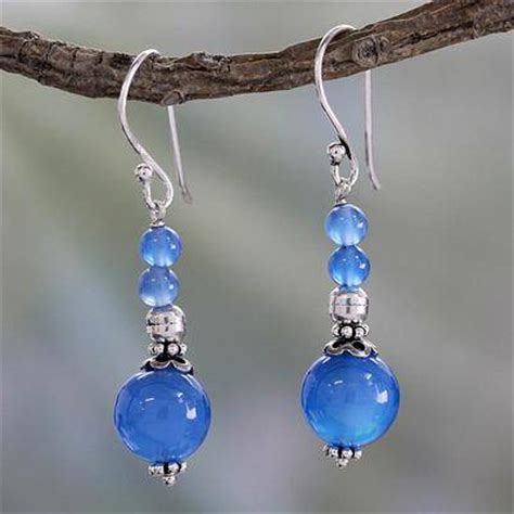 Chalcedony Jewelry Handmade - unicef uk market india handmade chalcedony earrings