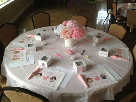 baby shower table settings baby shower table set up baby shower pinterest
