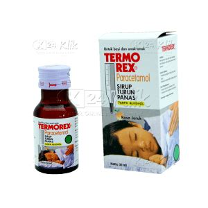 Termorex Plus Jeruk Syrup 30 Ml jual beli termorex syr 60ml k24klik