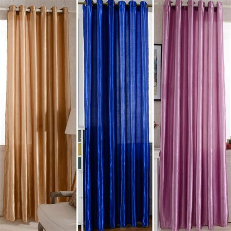 screen door curtains solid window satin screen curtains door room blackout