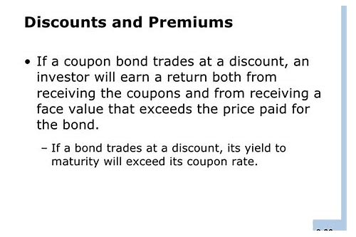 yield to maturity exceeds coupon rate