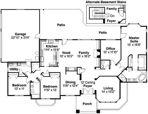 Monster House Plans Southwest Style House Plans 2692 Square Foot Home 1