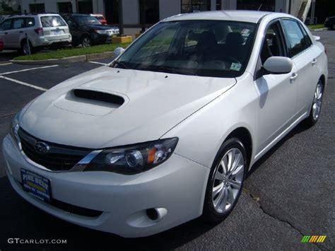 subaru sedan white 2008 aspen white subaru impreza wrx sedan 53917828