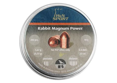 Rabbit Magnum Cal 22 h n rabbit magnum power cylindrical pellets 22 cal 25 77
