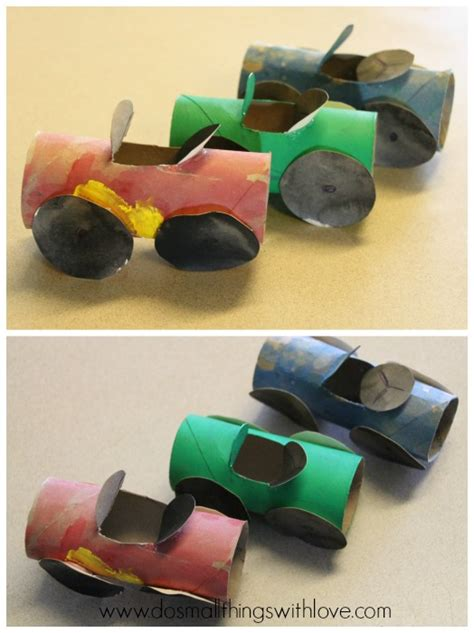 Toilet Paper Roll Car Craft - toilet paper roll cars do small things with great