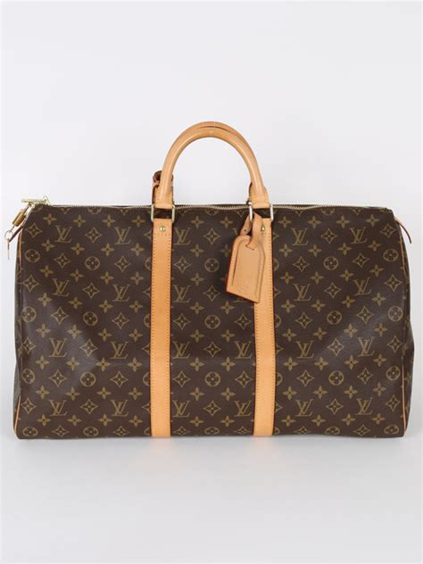 lv monogram pattern louis vuitton keepall 50 monogram canvas luxury bags