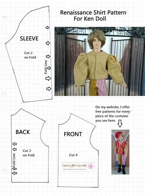 shirt pattern for ken doll sew a puff sleeve shirt for ken or barbiedoll chelly wood