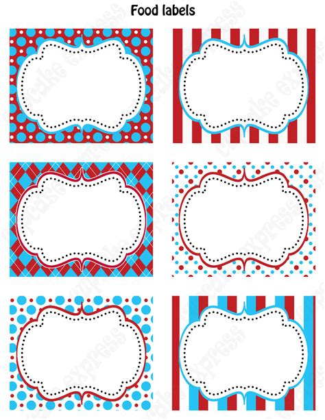 printable tag creator dr seuss inspired 1st birthday party printable food labels