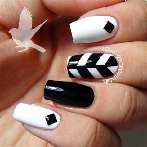 imagenes de uñas blancas y negras ideas para decorar las u 241 as de negro mis u 241 as decoradas