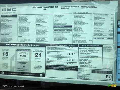 Gmc Window Sticker window sticker look up for gmc autos post