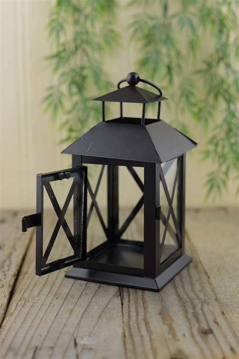 Vase Lighting Metal Lantern Black 7in