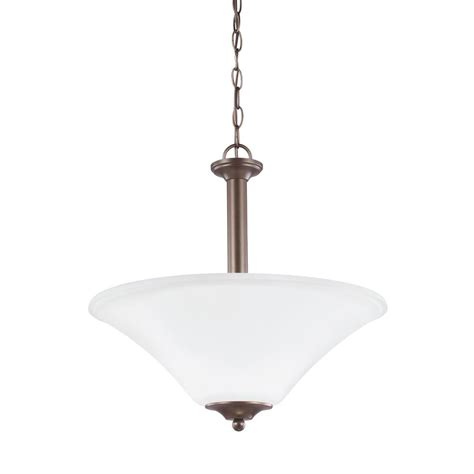Sea Gull Lighting Holman 3 Light Bell Metal Bronze Pendant Metal Bell Pendant Light