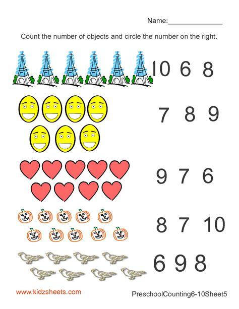 Preschool Counting Worksheets by Kidz Worksheets Preschool Counting Numbers Worksheet5
