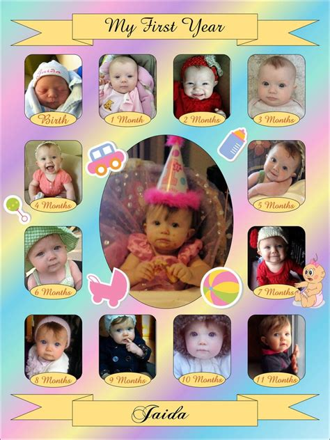baby collage template studio design baby s year collage templates discovery center store
