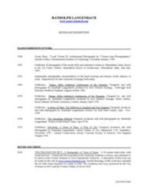 Resume With Publications Listed Randolph Langenbach Resumes