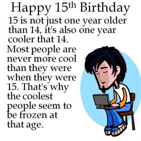 Happy 15 Birthday Quotes 15th Birthday For Son Quotes Quotesgram