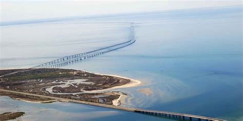 boat rs near the skyway bridge this engineering marvel functions as both a bridge and a