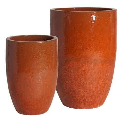 tall flower pots decor fabulous tall planters for cool garden decoration