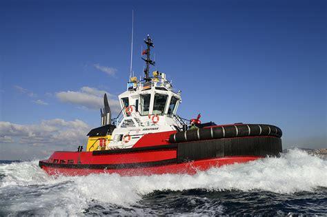 tug boat brands brand new design of asd tug being delivered sanmar a ş