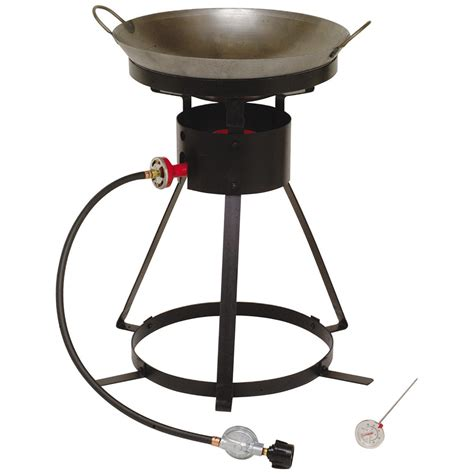 Cing Cooker With Grill king kooker 174 12 quot portable propane outdoor cooker with wok