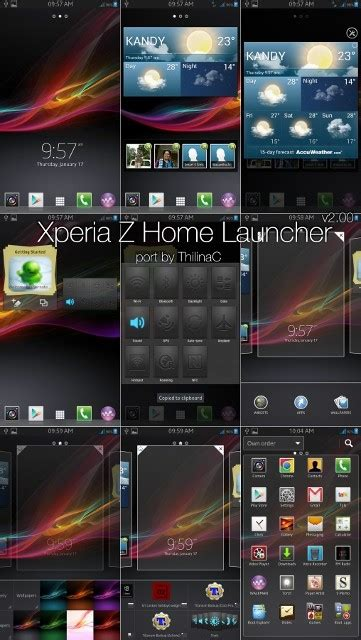 sony xperia z home launcher ported to samsung galaxy s2