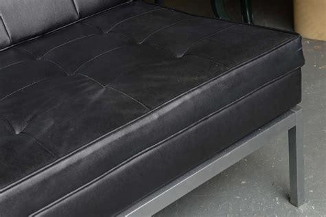 sleek leather sofa sleek black leather sofa at 1stdibs
